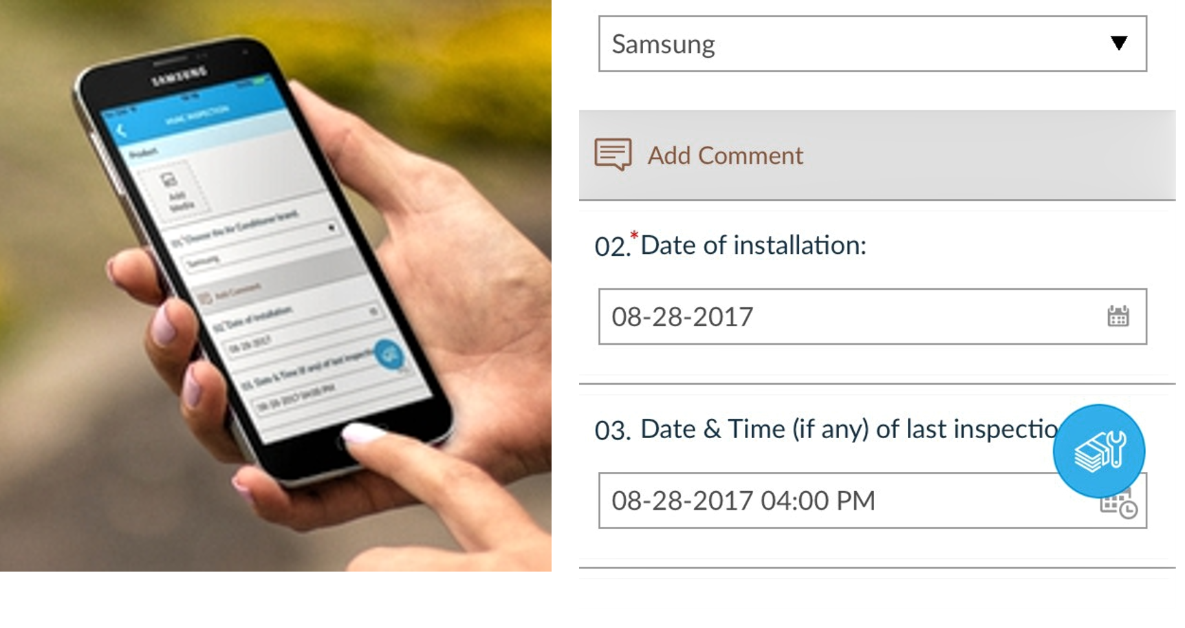 Date and time question type on mobile
