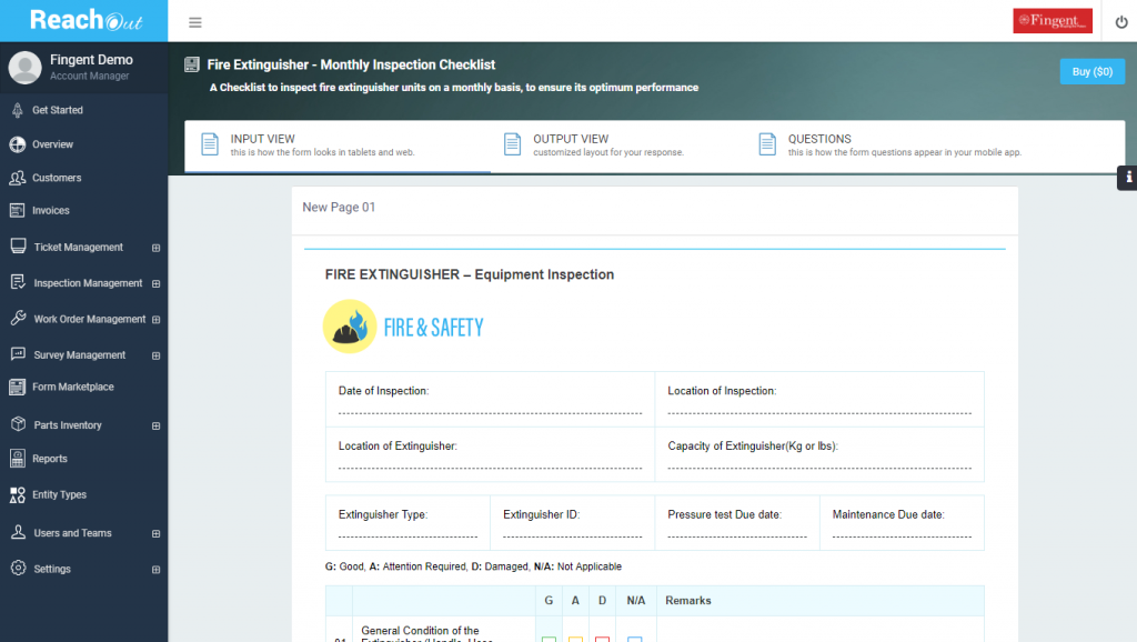 Fire & Safety Digital Forms Marketplace